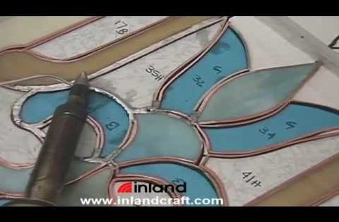 soldering a copper foiled stained glass panel the best bit is right at the end when you can see. Black Bedroom Furniture Sets. Home Design Ideas