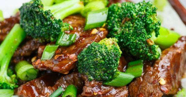 Mongolian Beef with Broccoli recipe green veggies asian food cooking