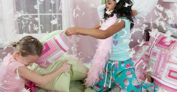 Movie sleepover party: Pillow fight ... the highlight of ...