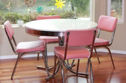 Pin By Mary Kramer On Furniture Retro Dining Rooms Retro Pink Kitchens Vintage Kitchen Table Retro kitchen table and chairs for sale