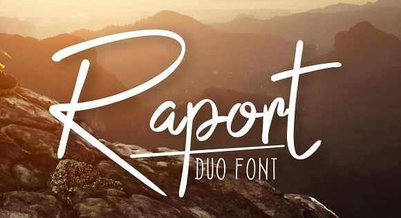 Raport Script Typeface – a font that is very fresh and unique style handmade