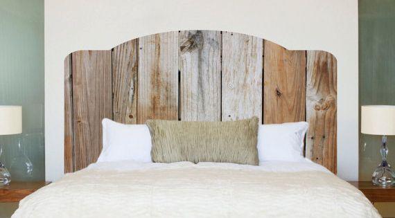 Rustique bois t te de lit sticker mural rustique murale t te de lit en bois - Tete de lit bois rustique ...