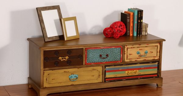 Mueble t v patchwork painting deco patch pinterest - Muebles tv originales ...