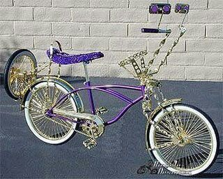 """LOW RIDER LOWRIDER BIKE BICYCLE 20/"""" Lowrider Twisted Cage Continental Kit Chrome"""