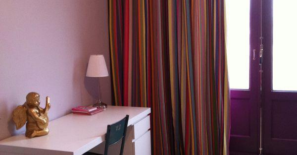 Stoere meisjeskamer met kleurmeester gordijnen kleurrijke gordijnen pinterest meisjeskamer - Kamer gordijnen kind ...
