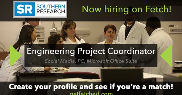 Southern Research is now #hiring on Fetch for a #Engineering Project