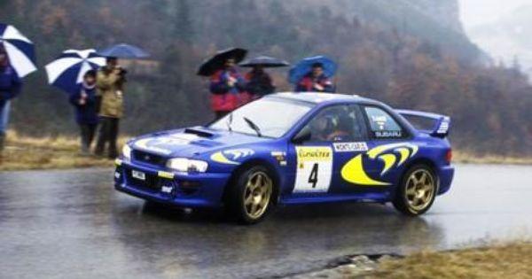 the subaru impreza wrc97 number 4 driven by piero liatti and fabrizia pons to win the 1997 monte carlo rally subaru impreza wrc subaru wrc subaru impreza subaru impreza wrc subaru wrc subaru