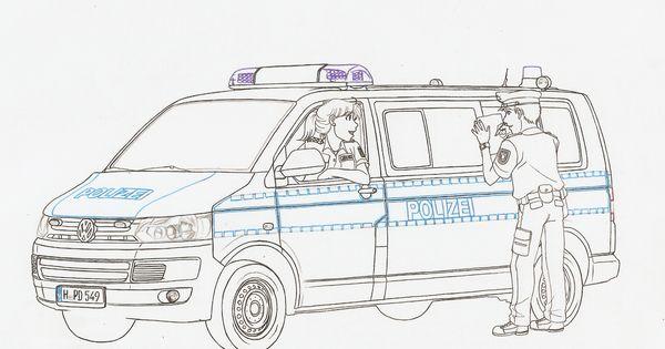 ausmalbilder polizei autos 01  ausmalbilder  pinterest