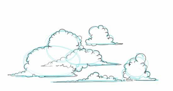 How To Draw Clouds Step 2 Cloud Drawing Pencil Illustration Drawings