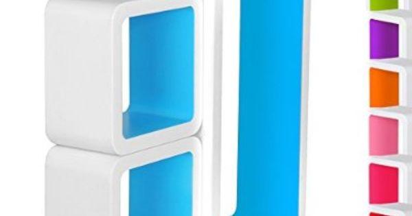 3er Set Wandregal Cube Regal Hängeregal Regalwürfel Bücherregal Mehrere Auswahl