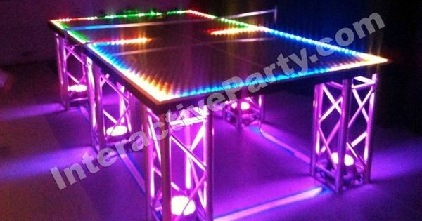Bar Bat Mitzvah Party Entertainment Trends Led Ping Pong Table From Interactive