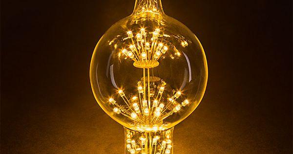 Led Fireworks Bulb G80 Decorative Alien Light Bulb 10 Watt Equivalent Dimmable Vintage Le Decorative Light Bulbs Led Decorative Lights Led Globe Lights