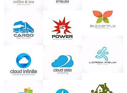 تحميل مجموعة من اللوجو الفيكتور القابل للتعديل Church Logo Cloud Data Social Network