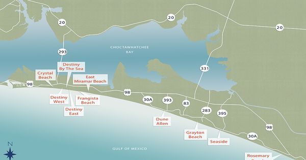 Overall Community Map Of Scenic 30a Florida Almost Eden