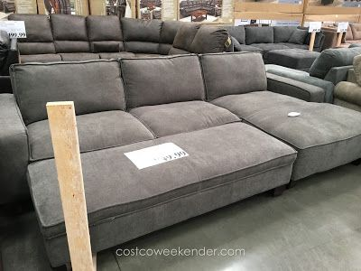 Chaise Sectional Sofa With Storage Ottoman At Costco Deep