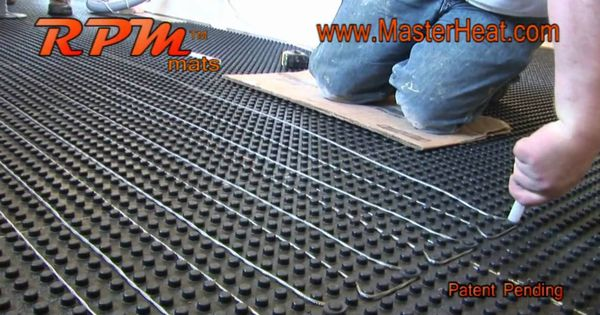 In floor heating radiant heating rpm do it yourself the for Radiant heat flooring options