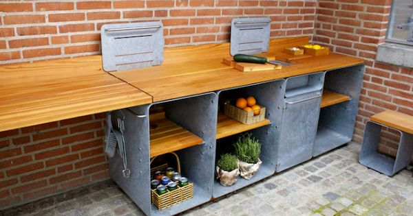 udek kken fra outsidedesign se billeder her outdoor kitchen pinterest. Black Bedroom Furniture Sets. Home Design Ideas