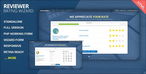 Reviewer Rating And Review Wizard Html Template Templates