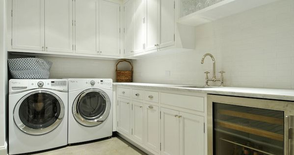 Laundry Room And Butler S Pantry Combo Boasts White Shaker