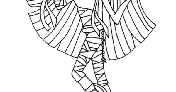 Colouring Sheet with Cleo De Nile from monster high ...