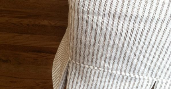 Create Live Design Custom Box Pleat Slipcover Ticking