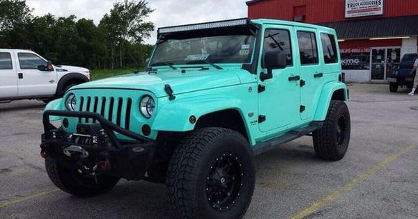 Teal Jeep Wrangler Unlimited Reasons To Own A Jeep Pinterest