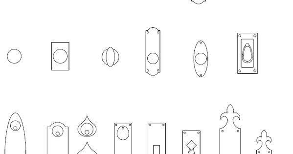 Archblocks Autocad Door Hardware Block Symbols Interiors