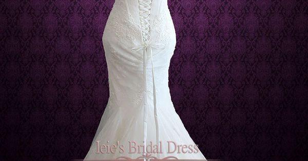 High end designer lace mermaid wedding dress sydney for High end designer wedding dresses