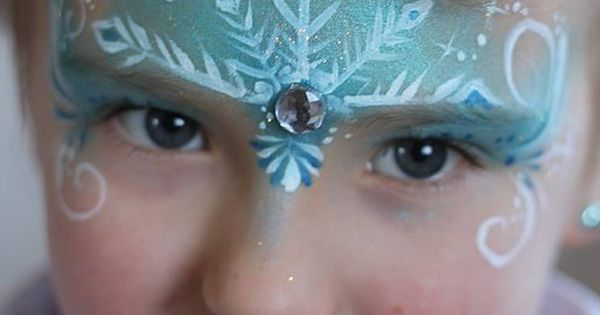 Frozen Face Painting Idea, perfect activity at a Disney Frozen birthday party!