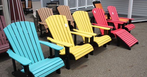 the colorful adirondack chairs are famous in ohio 39 s amish country take some home for yourself. Black Bedroom Furniture Sets. Home Design Ideas
