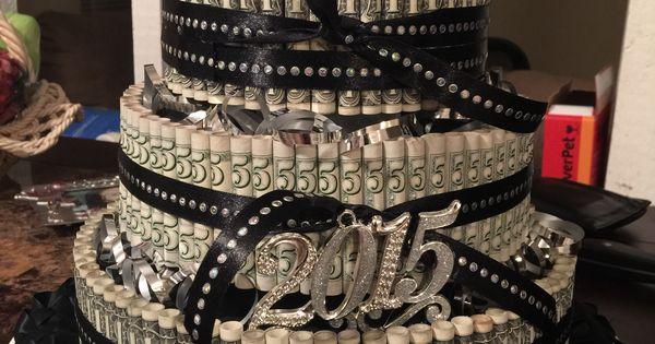 Money Cake Surprise Quinceanera Gift Birthday Decoration - Graduation Hairstyles