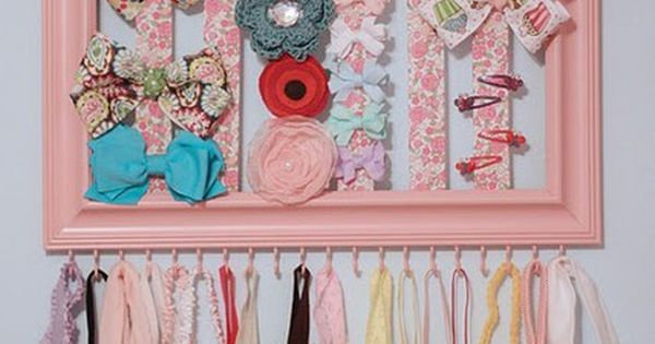 DIY Hairclip and Headband storage, because baby girls can never have too