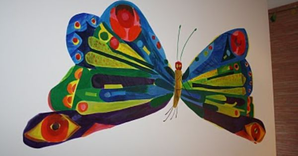 Vhc butterfly mural down the road pinterest eric for Eric carle mural