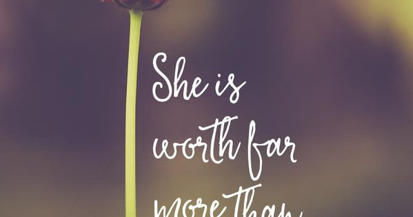 5 00 Bible Verse Print She Is Worth Far More Than