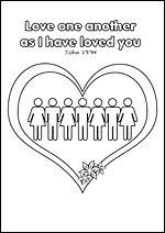 Free Printable Christian Bible Colouring Pages For Kids Love One Another As I Have Loved Sunday School Kids Printable Activities For Kids Christian Printables