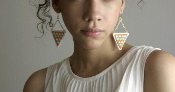 Earrings, Curls and Hair on Pinterest