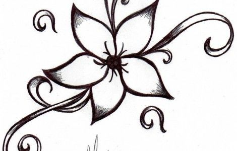 Easy Tattoos To Draw Cool Tattoos Designs Flower Tattoo Designs Easy Tattoos To Draw Simple Flower Tattoo