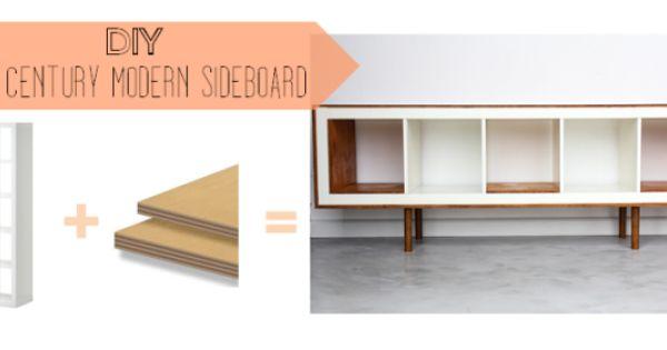 Ikea hack mid century modern sideboard from ikea expedit - Diy sideboard ikea hack ...
