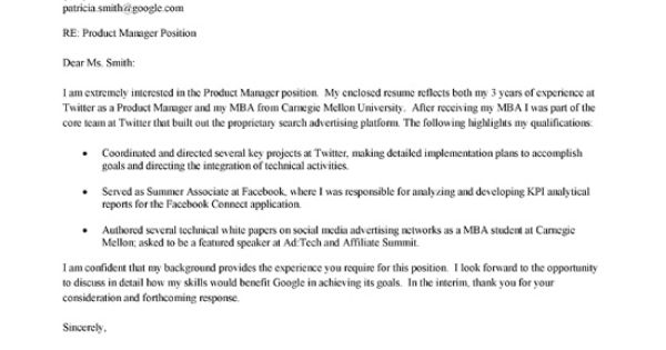 Cover Letter Example And Letter Example