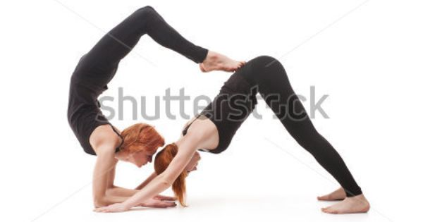 For 2 People Gymnastics Poses For Two People Paired Yoga Two