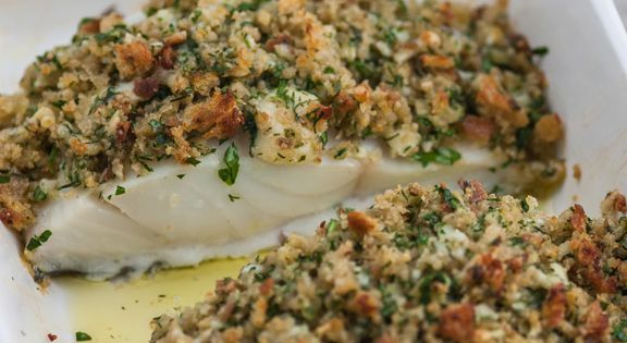 Pollock with cheddar and herb crust recipe fish pie for Pollock fish recipe
