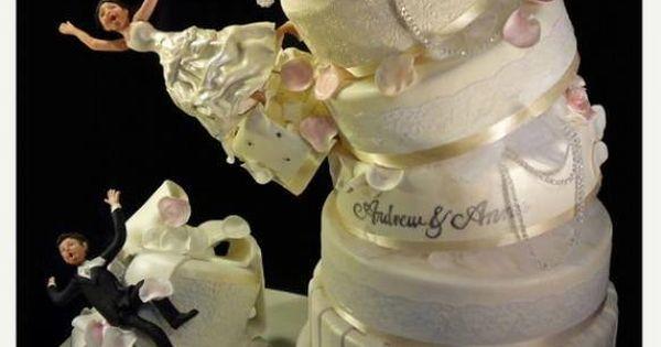 Un gâteau de mariage drôle et gourmand.  Gâteaux extraordinaires ...