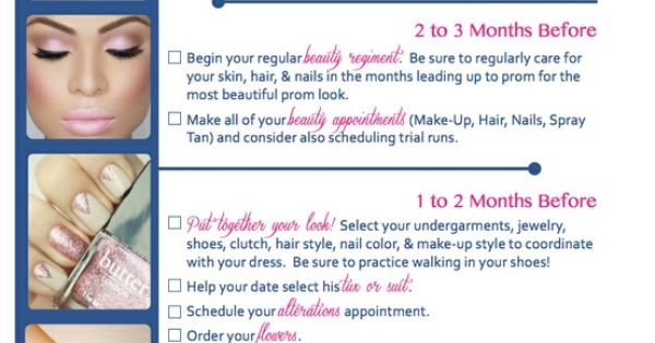 Prom Prep Checklist prom