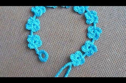 How To Crochet a Pretty Summer Flower Bracelet