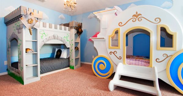 Imagine the fun your kids will have in this princess for Castle kids room