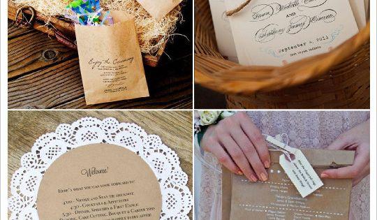 idees livret messe programme mariage sachet papier kraft goodie bag napperon papier un jour. Black Bedroom Furniture Sets. Home Design Ideas