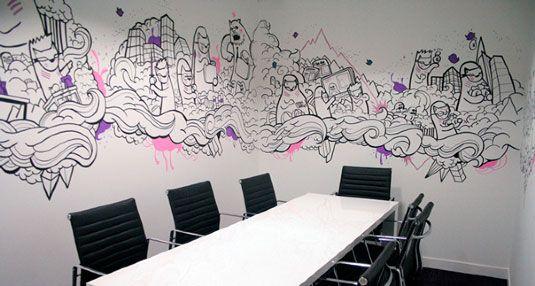Nyc Interior Mural Office Mural Graffiti Murals Graffiti Wall Art