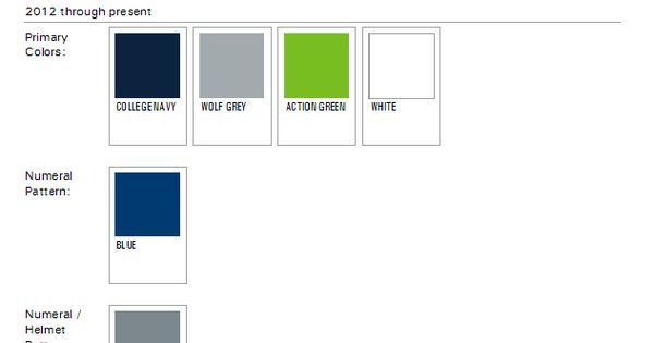 Seattle Seahawks Paint Colors 2012 Nfl Week By Week