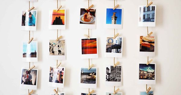 idees accrocher photos polaroid diy pinterest accrocher photos photo polaroid et polaroid. Black Bedroom Furniture Sets. Home Design Ideas