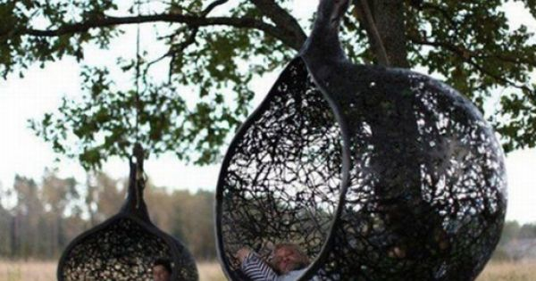 Manu Nest Hanging Chair - Keep your blob-styled spaces looking natural: Use